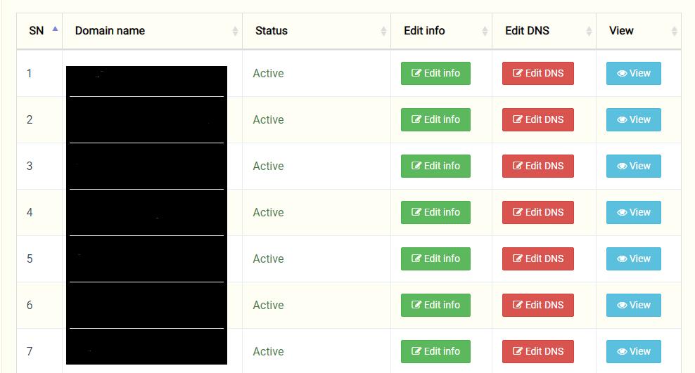 edit dns record of .np domain