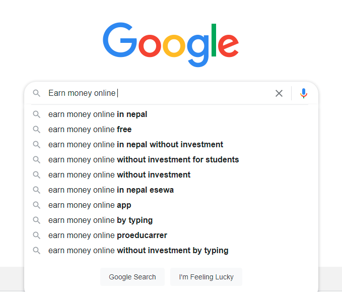 Most searched keywords in Google Nepal